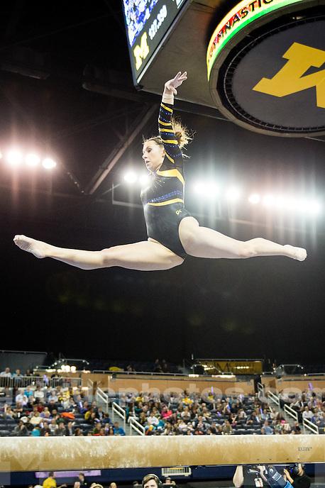 The University of Michigan women's gymnastics team falls to Utah, 197.525-197.050, at Crisler Center in Ann Arbor, MI. on March 3, 2016.