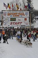 Scott Smith Willow restart Iditarod 2008.