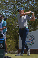 Jordan Spieth (USA) watches his tee shot on 12 during round 1 of the World Golf Championships, Dell Match Play, Austin Country Club, Austin, Texas. 3/21/2018.<br /> Picture: Golffile | Ken Murray<br /> <br /> <br /> All photo usage must carry mandatory copyright credit (&copy; Golffile | Ken Murray)