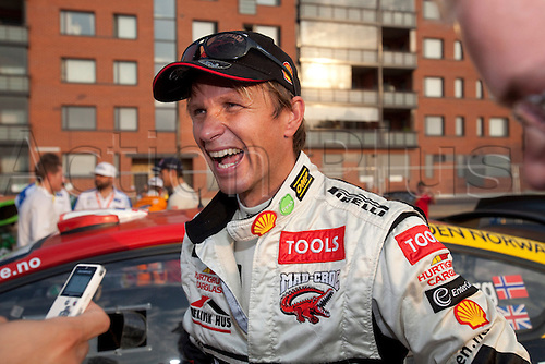 JYVASKYLA, FINLAND - JULY 29: Petter Solberg of Norway pictured on the service area in the WRC Rally Finland on July 29, 2010 in Jyvaskyla, Finland.