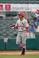 May 1 2010: Jose Garcia (12) of the Palm Beach Cardinals during a game vs. the Jupiter Hammerheads at Roger Dean Stadium in Jupiter, Florida. Palm Beach, the Florida State League High-A affiliate of the St. Louis Cardnials, won the game against Jupiter, affiliate of the Florida MArlins, by the score of 5-4  Photo By Scott Jontes/Four Seam Images
