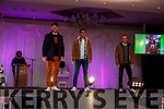 Shane and Wayne Guthrie and James Sugrue on the catwalk for the Fashion Show in aid of Kerry Hospice in the Rose Hotel on Thursday night.