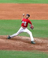 Juan Then participates in the MLB International Showcase at Estadio Quisqeya on February 10-11, 2016 in Santo Domingo, Dominican Republic.