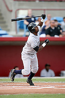 August 13, 2008: Eduardo Nunez (12) of the Tampa Yankees at Ed Smith Stadium in Sarasota, FL. Photo by: Chris Proctor/Four Seam Images