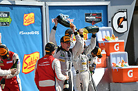 IMSA WeatherTech SportsCar Championship<br /> Sahlen's Six Hours of the Glen<br /> Watkins Glen International, Watkins Glen, NY USA<br /> Sunday 2 July 2017<br /> 93, Acura, Acura NSX, GTD, Andy Lally, Katherine Legge<br /> World Copyright: Richard Dole/LAT Images<br /> ref: Digital Image RD_WGI_17_573