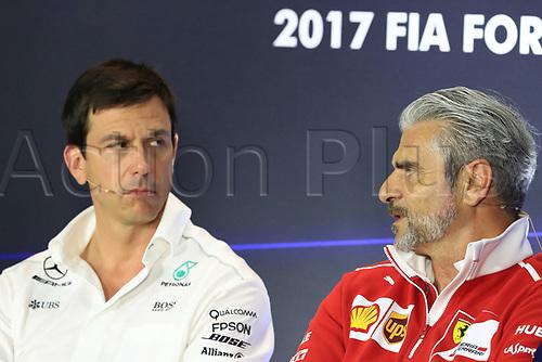 1st September 2017, Autodromo Nazionale Monza, Monza; Italian Grand Prix, Friday FIA Team Press Conference; Maurizio Arrivabene – Managing Director and Team Principal of Scuderia Ferrari