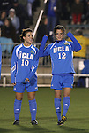05 December 2008: UCLA's Lauren Wilmoth (10) and Erin Hardy (12). The University of North Carolina Tar Heels defeated the University of California Los Angeles Bruins 1-0 at WakeMed Soccer Park in Cary, NC in an NCAA Division I Women's College Cup semifinal game.