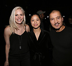 "Katie Rose Clarke, Eva Noblezada and Jon Jon Briones during The Opening Night Actors' Equity Gypsy Robe Ceremony honoring Catherine Ricafort for the New Broadway Production of  ""Miss Saigon""  at the Broadway Theatre on March 23, 2017 in New York City"