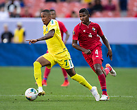 CLEVELAND, OH - JUNE 22: Keanu Marsh-Brown #7 during a game between Panama and Guyana at FirstEnergy Stadium on June 22, 2019 in Cleveland, Ohio.
