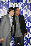 Harry Sham Jr & Dijon Talton star in GLEE as they attends the FOX 2010 Programming Presentation (Upfronts) Post-Party on May 18, 2010 at Wollman Rink in Central Park, New York City, New York.  (Photo by Sue Coflin/Max Photos)