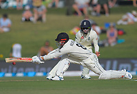 NZ's Henry Nicholls bats during day two of the international cricket 1st test match between NZ Black Caps and England at Bay Oval in Mount Maunganui, New Zealand on Friday, 22 November 2019. Photo: Dave Lintott / lintottphoto.co.nz