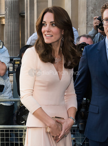 LONDON, ENGLAND - MAY 04: Kate, Duchess of Cambridge at National Portrait Gallery exhibition Vogue 100, A Century of Style ON May 4th, 2016 in London, England.<br /> CAP/JOR<br /> &copy;JOR/Capital Pictures /MediaPunch ***NORTH AMERICAN AND SOUTH AMERICAN SALES ONLY***