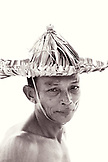 INDONESIA, Mentawai Islands, Kandui Resort, portrait of fisherman Gesayas Ges (B&W)