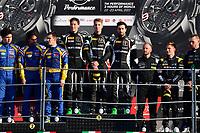 #63 GRT GRASSER RACING TEAM (AUT) LAMBORGHINI HURACAN GT3 MIRKO BORTOLOTTI (ITA) CHRISTIAN ENGELHART (DEU) ANDREA CALDARELLI (ITA) OVERALL WINNER AND WINNER IN PRO CUP #50 SPIRIT OF RACE (CHE) FERRARI 488 GT3 PASIN LATHOURAS (THA) MICHELE RUGOLO (ITA) ALESSANDRO PIER GUIDI (ITA) SECOND OVERALL AND SECOND IN PRO CUP #84 MERCEDES AMG TEAM HTP MOTORSPORT (DEU) MERCEDES AMG GT3 MAXI BUHK (DEU) FRANCK PERERA (FRA) JIMMY ERIKSSON (SWE) THIRD OVERALL AND THIRD IN PRO CUP