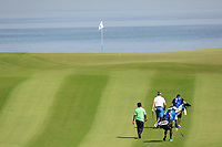 Raphael Jacquelin (FRA) and Thongchai Jaidee (THA) on 11 during the third round of the NBO Open played at Al Mouj Golf, Muscat, Sultanate of Oman. <br /> 17/02/2018.<br /> Picture: Golffile | Phil Inglis<br /> <br /> <br /> All photo usage must carry mandatory copyright credit (&copy; Golffile | Phil Inglis)
