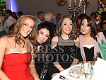 Becky Howell, Ellen Brodigan, Beth and Amie Sheridan at St. Fechins GFC 75th anniversary dinner in the Westcourt Hotel. Photo:Colin Bell/pressphotos.ie