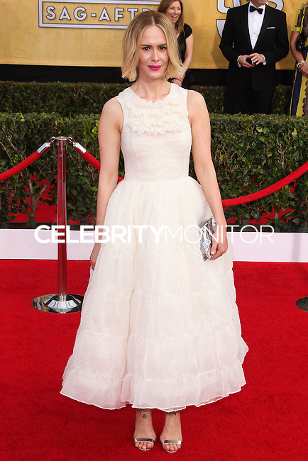 LOS ANGELES, CA - JANUARY 18: Sarah Paulson at the 20th Annual Screen Actors Guild Awards held at The Shrine Auditorium on January 18, 2014 in Los Angeles, California. (Photo by Xavier Collin/Celebrity Monitor)