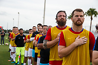 Lakewood Ranch, FL - Sunday July 23, 2017: USA national anthem during an international friendly match between the paralympic national teams of the United States (USA) and Canada (CAN) at Premier Sports Campus at Lakewood Ranch.