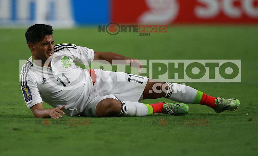 Carlos Vela de Mexico    ,durante partido entre las selecciones de Mexico y Guatemala  de la Copa Oro CONCACAF 2015. Estadio de la Universidad de Arizona.<br /> Phoenix Arizona a 12 de Julio 2015.