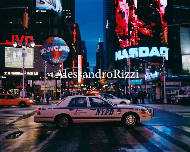 NYPD Police car on busy street