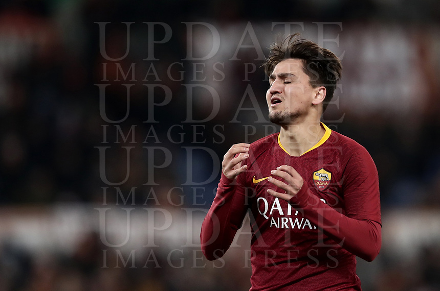 Football, Serie A: AS Roma - US Sassuolo, Olympic stadium, Rome, December 26, 2018. <br /> Roma's Cengiz Under reacts during the Italian Serie A football match between Roma and Sassuolo at Rome's Olympic stadium, on December 26, 2018.<br /> UPDATE IMAGES PRESS/Isabella Bonotto