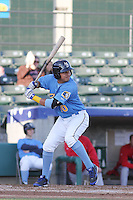 Myrtle Beach Pelicans infielder Edwin Garcia #10 at bat during a game against the Potomac Nationals at Ticketreturn.com Field at Pelicans Ballpark on April 16, 2014 in Myrtle Beach, South Carolina. Potomac defeated Myrtle Beach 7-3. (Robert Gurganus/Four Seam Images)