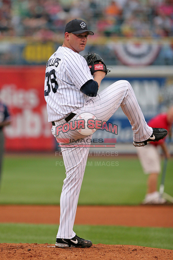 Charlotte Knights pitcher Heath Phillips during the Triple-A All-Star Game at Fifth Third Field on July 12, 2006 in Toledo, Ohio.  (Mike Janes/Four Seam Images)