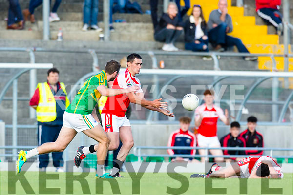 South Kerry in action against  Dingle in the Quarter Finals of the Kerry County Football Championship at Austin Stack Park on Saturday.