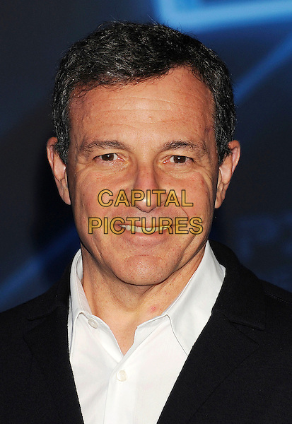 "ROBERT IGER, President of Walt Disney Co..""TRON: Legacy"" World Premiere held at the El Capitan Theatre, Hollywood, California, USA..December 11th, 2010.headshot portrait black white.CAP/ROT/TM.©Tony Michaels/Roth Stock/Capital Pictures"