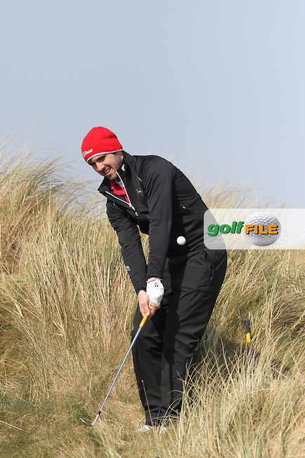 Mark Morrissey (Mount Wolesly) on the 15th during Round 2 of the West of Ireland Amateur Open Golf Championship 2013 at Co.Sligo Golf Club, Rosses Point, Co.Sligo. 30/03/2013...(Photo Jenny Matthews/www.golffile.ie)