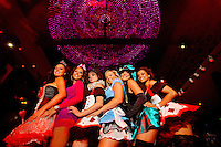 The glamorous lounge Butter, located in Charlotte's NC Music Factory,  hosted the Vintage Wonderland Costume Party (to benefit Project 127) in May 2011. .Charlotte's NC Music Factory, located in the Uptown Village at 935 N Graham, is a play, work, live destination of bars, restaurants, entertainment venues and more. It is a popular weekend destination for Charlotte nightlife. For research help in locating stock images or Charlotte NC photos available for purchase or licensing, please call 704-655-2661.