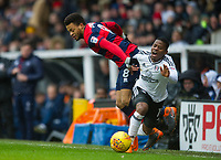 QPR Jordan Cousins and Fulham's Floyd Ayite during the Sky Bet Championship match between Fulham and Queens Park Rangers at Craven Cottage, London, England on 17 March 2018. Photo by Andrew Aleksiejczuk / PRiME Media Images.