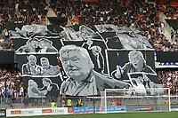 I tifosi rendono omaggio a Loulou louis Nicollin <br /> Montpellier Vs Caen 05-08-2017 <br /> Calcio Ligue 1 2017/2018 <br /> Foto Panoramic/insidefoto