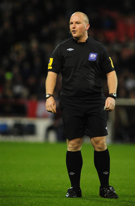 Referee Simon Hooper..Football - npower Football League Championship - Nottingham Forest v Middlesbrough - Tuesday 6th November 2012 - The City Ground - Nottingham..¨