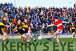 Paul Geaney Dingle has a shot at goal against Dr. Crokes during the Kerry County Senior Club Football Championship Final match between Dr Crokes and Dingle at Austin Stack Park in Tralee, Kerry on Sunday.