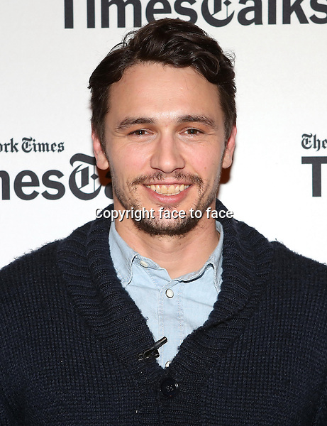 James Franco backstage at TimesTalks Presents 'An Evening With James Franco And Chris O'Dowd' at the Times Center on March 7, 2014 in New York City.<br />