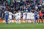 Real Madrid´s players celebrate a goal against Getafe´s during La Liga match at Santiago Bernabeu stadium in Madrid, Spain. December 05, 2015. (ALTERPHOTOS/Victor Blanco)