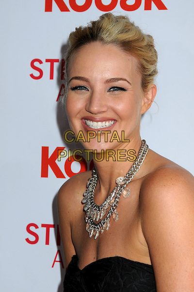 BRIANNE DAVIS .The 2nd Annual Streamy Awards held at the Orpheum Theatre, Los Angeles, California, USA, 11th April 2010 .portrait headshot smiling necklace strapless black hair up .CAP/ADM/BP.©Byron Purvis/AdMedia/Capital Pictures.