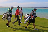 Renato Paratore (ITA) and Graeme McDowell (NIR) on the 16th during Round 3 of the Saudi International at the Royal Greens Golf and Country Club, King Abdullah Economic City, Saudi Arabia. 01/02/2020<br /> Picture: Golffile | Thos Caffrey<br /> <br /> <br /> All photo usage must carry mandatory copyright credit (© Golffile | Thos Caffrey)