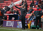 24th March 2018, The Valley, London, England;  English Football League One, Charlton Athletic versus Plymouth Argyle; Charlton caretaker manager Lee Bowyer gives instructions to his players from the touchline