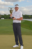Ian Poulter (GBR) holds the trophy for winning the Houston Open, Golf Club of Houston, Houston, Texas. 4/1/2018.<br /> Picture: Golffile | Ken Murray<br /> <br /> <br /> All photo usage must carry mandatory copyright credit (&copy; Golffile | Ken Murray)