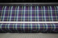 Tessuto tartan, macchina per tessitura Bute tartan mills
