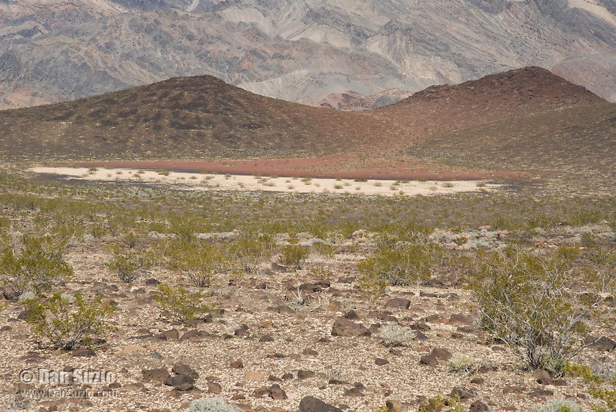 Dry lakebed in the Greenwater Range, Death Valley National Park, California