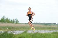 TRIATHLON: HEERENVEEN: 23-05-2015, CLAFIS Triathlon Heerenveen, Olympische klasse, Dirk Wijnalda (#60), ©foto Martin de Jong
