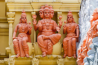 Hindu Deities outside Entrance to Sri Senpaga Vinayagar Hindu Ganesh Temple, Joo Chiat District, Singapore.