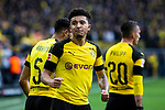 09.02.2019, Signal Iduna Park, Dortmund, GER, 1.FBL, Borussia Dortmund vs TSG 1899 Hoffenheim, DFL REGULATIONS PROHIBIT ANY USE OF PHOTOGRAPHS AS IMAGE SEQUENCES AND/OR QUASI-VIDEO<br /> <br /> im Bild | picture shows:<br /> Jadon Sancho (Borussia Dortmund #7) jubelt über sein Tor zum 1:0, <br /> <br /> Foto © nordphoto / Rauch