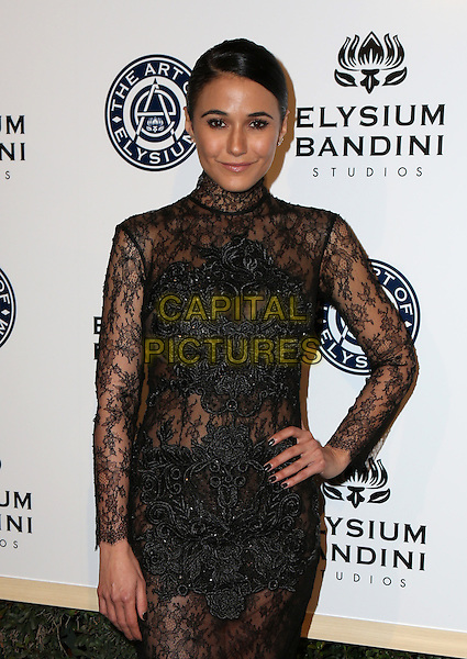 LOS ANGELES, CA - JANUARY 7: Emmanuelle Chriqui at the The Art Of Elysium Tenth Annual Celebration 'Heaven' Charity Gala at Red Studios i Los Angeles, California on January 7, 2017. <br /> CAP/MPI/PA<br /> &copy;PA/MPI/Capital Pictures