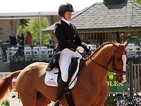 LEXINGTON, KY - April 27, 2017. #10 Share Option and Lillian Heard from the USA finish in 12th place on the first day of Dressage at the Rolex Three Day Event at the Kentucky Horse Park.  Lexington, Kentucky. (Photo by Candice Chavez/Eclipse Sportswire/Getty Images)