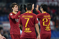esultanza secondo gol Patrik Schick  Roma. Goal celebration.<br /> Roma 14-01-2019 Stadio Olimpico<br /> Football Italy Cup 2018/2019, Round of 16 <br /> AS Roma - Virtus Entella<br /> Foto Image Sport  / Insidefoto