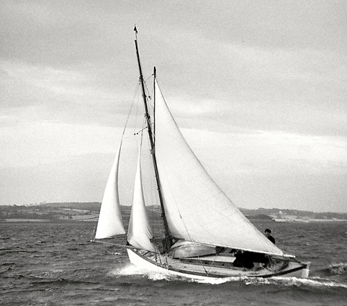 26ft gaff cutter Marie (seen here in 1966) was one of the boats featured in the 1939 DBSC handicaps